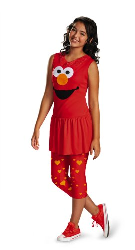 Disguise Sesame Street Elmo Tween Classic Tween Costume, (Sesame Street Elmo's World Halloween)
