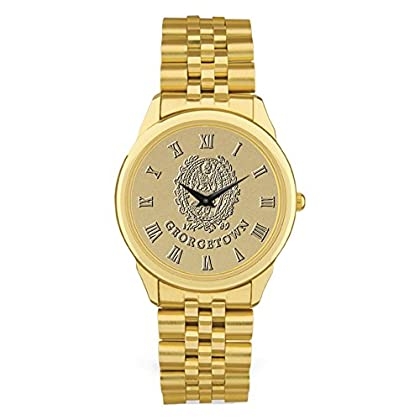 Image of AdSpec NCAA Georgetown Hoyas Men's Wristwatch, Gold Wrist Watches