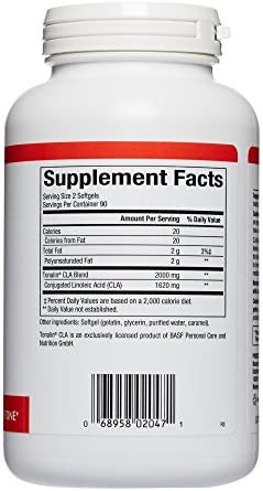 Natural Factors, CLA Tonalin 1000 mg, Supports Healthy Muscle Mass and Weight Management, 180 softgels (90 servings) 2