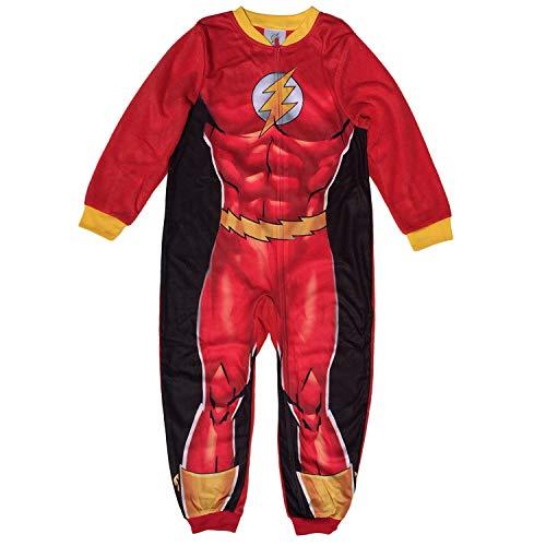 DC Comics The Flash Little & Big Boys Sleeper Pajama (M (8))]()