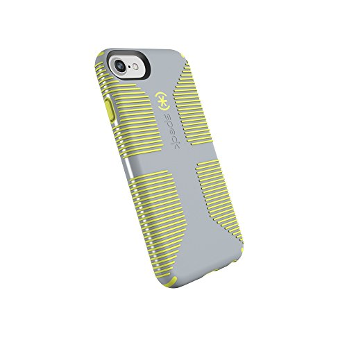 Speck Black Case - Speck Products CandyShell Grip Cell Phone Case iPhone 8/7/6S/6 - Nickel Grey/Antifreeze Yellow