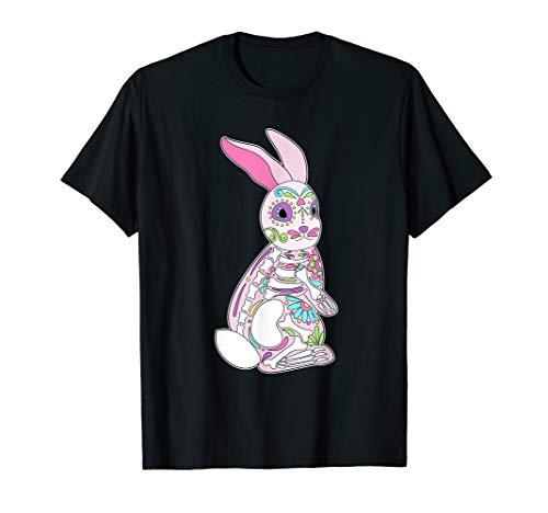 Easter Bunny Sugar Skull Dia De Los Muertos Rabbit T Shirt