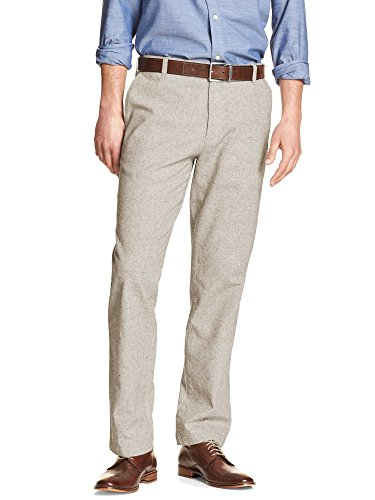 Linen Blend Casual Pants - 4