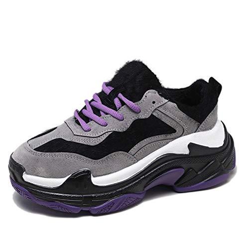 HRCxue Pumps Schuhe, Damenschuhe, Turnschuhe sowie Samtweine rot