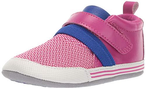 Ro + Me by Robeez Girls' Jill Athletic Sneaker Crib Shoe, Purple, 0-6 Months