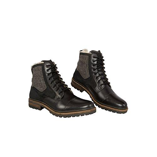 19v69 VERSACE 1969 Stivali invernali -HANDMADE - Stivali in pelle con Real merino-wolle-futter Nero