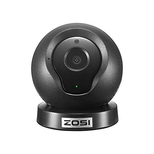 ZOSI Q2 Mini Wireless IP/Network Security Surveillance Video Camera, Baby and Pet Monitor, Remote Video Monitoring, Two-Way Audio,Night Vision, Motion Detection with Instant Alert(Black)