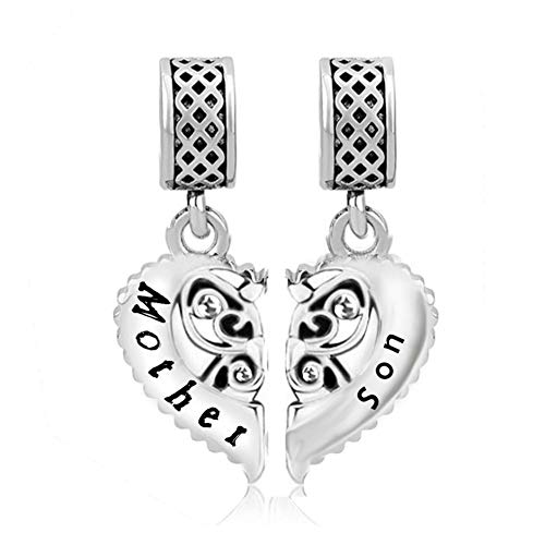 Daisy Heart Pendant - Daisy Jewelry Family Mom Mother to Son Gifts Love Charms Bead Necklace Bracelets (April 04)