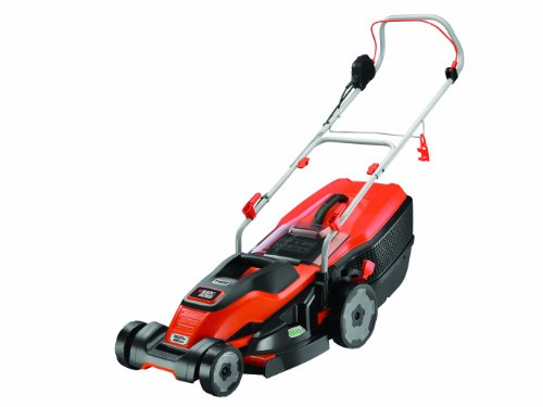BLACK+DECKER Edge-Max Lawn Mower with 42 cm Cut Intelli Cable Management 45...