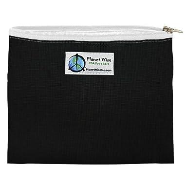 Planet Wise Zipper Sandwich Bag, Black