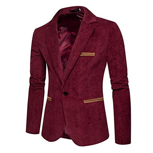 À Jacket Longues Manteau Velours Homme Blazer Costume Slim Côtelé Veste Top Rouge Automne Manches Costumes tm Hiver Casual Coloré EqSvF
