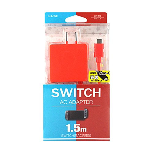 AC充電器Type-C 1.5m レッド (SWITCH用)