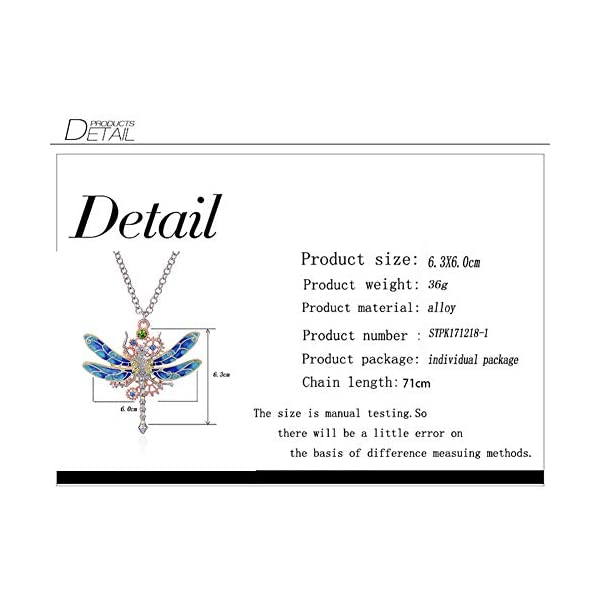 Steampunk Gear Diamond Color Dragonfly Necklace Alloy Chain Colorful Dragonfly Shaped Rock Gear Steampunk Pendant Necklace Choker Unisex 1Pcs 5