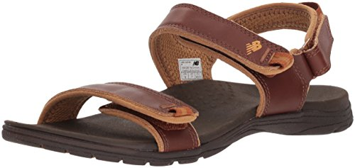 - New Balance Women's Traverse Leather Sandal, Whisky, 8 D D US
