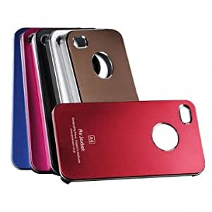 Elegant Design Plastic Hard Back Case Cover For iPhone 4 4S --- Color:Coffee