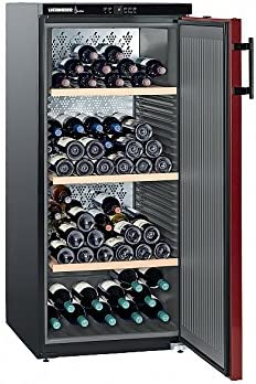 Liebherr WK 161 Independiente Negro 164bottle(s) A+ - Enfriador de vino (Independiente, Negro, Acero inoxidable, 3 estanterías, 1 puerta(s), 164 botella(s))[Clase de eficiencia energética A++]