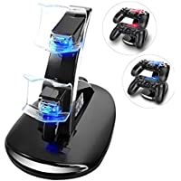 YCCSKY PS4 Controller Charger Charging Station, Dual USB...