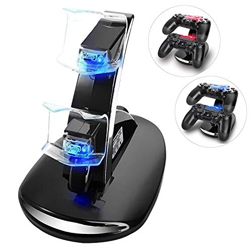YCCSKY PS4 Controller Charger Charging Station, Dual USB Charger Charging Station Stand for Sony PlayStation 4 PS4 and PS4 Pro Controller