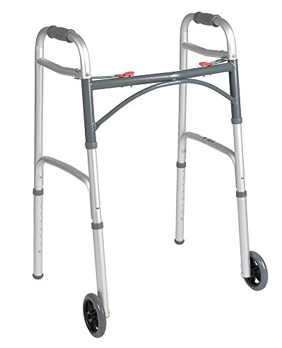 Deluxe Button Folding Walker 5 Inch