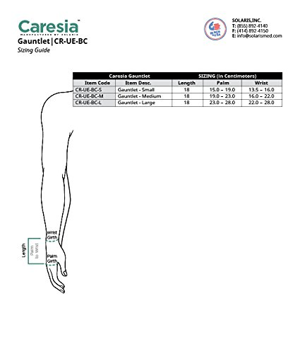 Caresia Lymphedema Bandaging Liner Gauntlet - Small