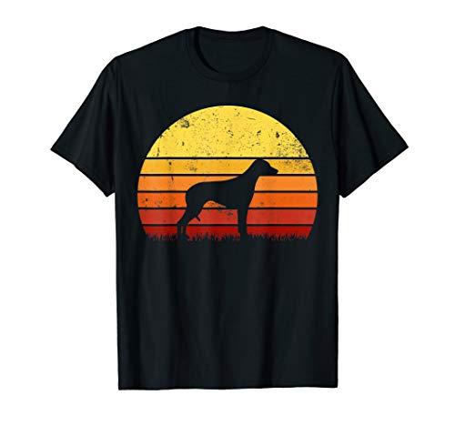 Retro Sunset Silhouette Rhodesian Ridgeback Dog T-shirt