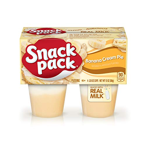 Snack Pack Banana Cream Pie Pudding Cups, 4 Count (Banana Cream Pie Made With Banana Pudding)