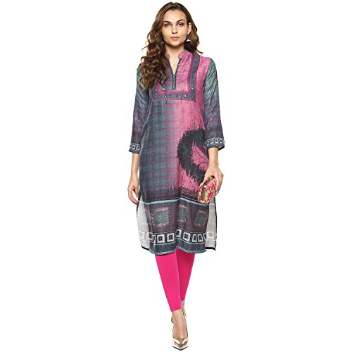 Lagi Kurtis Ethnic Women Kurta Kurti Tunic Digital Print Top Dress Casual Wear New Launch by S, Rani (FI04B) by Lagi