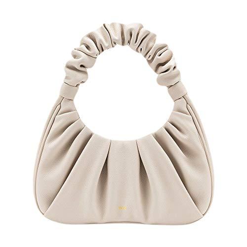 JW PEI Women Hobo Handbags Vegan Leather 90s Trendy Purses Gabbi Bags Chic Pouch Bags, Beige