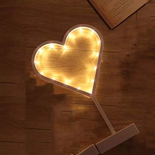 CocoMarket lamp-Led Nightlight Heart Shape Stars Desk Lamp Rattan Lamp Party Wedding Decoration(A,one size) by CocoMarket
