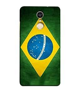 ColorKing Football Brazil 03 Multicolor shell case cover for Xiaomi Redmi Note 4