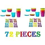 Ikea Childrens Kalas 36 Piece Plastic Cutlery Set 6 X