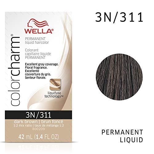Wella Color Charm Permanent Liquid Hair Color  Browns, Wella Color Charm Perm Liquid 3N Dark Brown