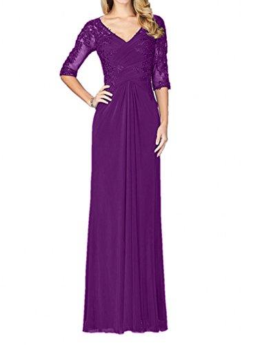 2018 Brautmutterkleider La Chiffon Abschlussballkleider mia Violett Neu Abendkleider Braut Elegant Lang Partykleider Ballkleider EFF6CwqH