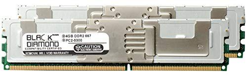 8GB 2X4GB Memory RAM for Sun SPARC Enterprise T5220 Server DDR2 Fully Buffered FBDIMM 240pin PC2-5300 667MHz Black Diamond Memory Module Upgrade