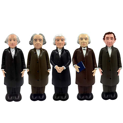 FUNert Little Leaders, A Collection of USA Presidents in Mini Action Toy Figures - Educational and Learning Toys for Kids, Boys and Girls - A Playset of The First 5 Presidents