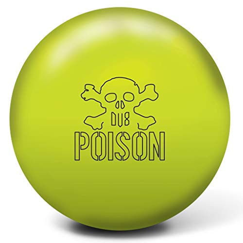 (DV8 Bowling Products Poison Bowling Ball- 14Lbs, Halogen Yellow, 14)