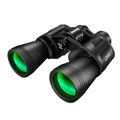 10x50 Binoculars for Adults,SGODDE Super High Powered Surveillance Binoculars- HD Vision,WideAngle,Fully Coated Lens Prism Binoculars for Outdoor Travelling Sightseeing Wildlife Watching Hunting (50 Resistance Meters)