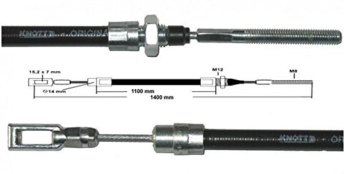 1400 mm FKAnh/ängerteile Knott c/âble de frein 35006,20 HL GL C/âble Knott ancienne version 1100 mm