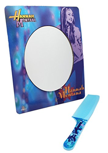 Hannah Montana Light Blue Colored Kids Comb and Matching Mirror