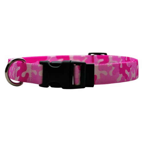 (Yellow Dog Design Camo Pink Break Away Cat Collar, One Size Fits All)