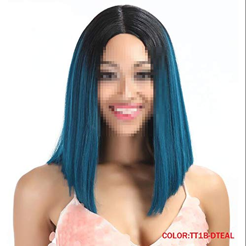 Hair Synthetic Lace Front Wig Straight Lace Wigs Synthetic Lace Front Wig,TT1B-DTEAL,130%,Lace -
