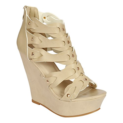 Coshare Women's Fashion Assorted Wedge High Heel Platform Sandals