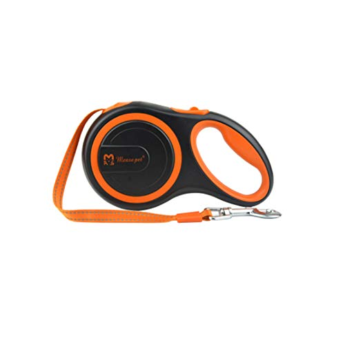 orange 8M orange 8M Pet leash Dog lead retractable for medium-sized dogs up to 50 kg, with a push button and locking system, dog-guided training, walking, jogging