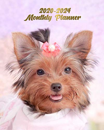2020-2024 Planner: Trendy 5 Year Monthly Organizer, Schedule Calendar & Agenda with 60 Months Spread View - Adorable Little Yorkshire Terrier - Yorkie Dog Love