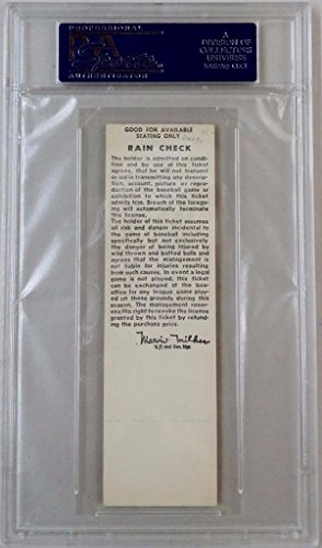 Seattle Pilots vs Twins June 22nd 1970 Full Unused Phantom Ticket Stub PSA 8