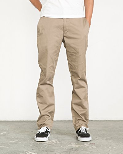RVCA Men's The Weekend Stretch Pant, Dark Khaki, (Stretch Weekend Chino Pants)