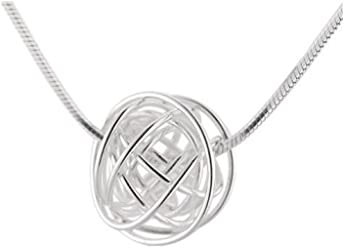 34b268bbcba884 Handmade 925 Sterling Silver Wire Nest Pendant Necklace with Free Gift  Packaging by Otis Jaxon