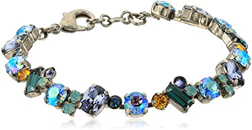 Cut Cluster Multi - Sorrelli Womens Moonlit Shores Multi Cut Crystal Cluster Bracelet, Purple, 7