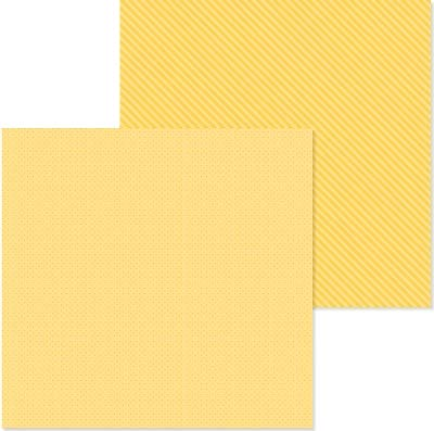 Doodlebug 6116 PP Paper 12x12 D/S Bumblebee, None