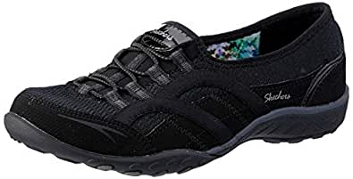 Skechers Australia Breathe-Easy - Faithful Women's Walking Shoe, Black, 5 US